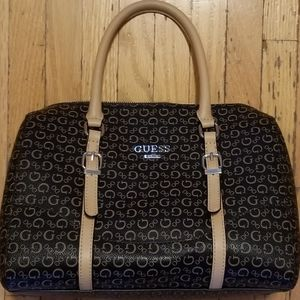 Guess | Logo Brown & Tan Bag, Arm & Crossbody